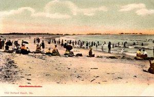 Maine Old Orchard Beach Beach Scene