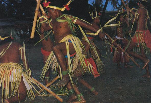 Micronesia Yap Traditional Stick Dance Of Yap