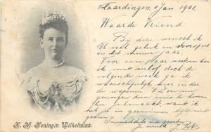 Queen Wilhelmina 1901 postcard