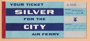 Silver City Air Ferry 1953 Le Touquet Flight Ticket Book
