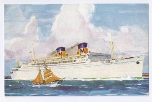 Steamer Matson Line SS Lurline Hawaii 1938 Postcard