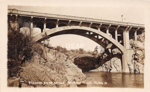 C91/ Redwood Falls Minnesota Mn Real Photo RPPC Postcard 1917 River Bridge