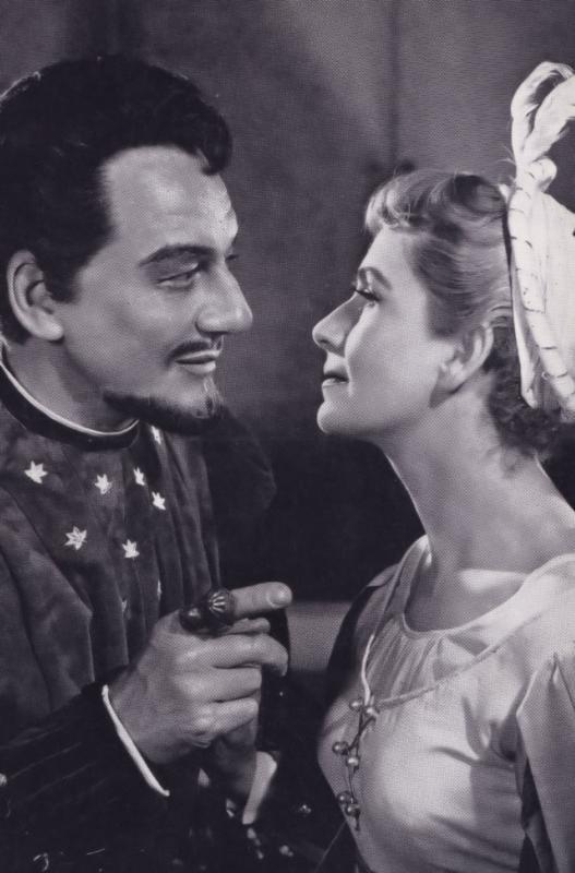 Peggy Ashcroft Benedick & Beatrice Royal Shakespeare Company Theatre Postcard
