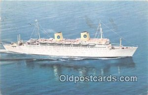 MS Kungsholm Swedish American Line Ship 1963 light stains on card