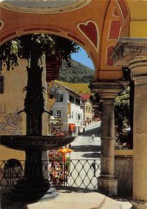 St Wolfgang Alter Brunnen Blick in die Hauptstrasse Fountain