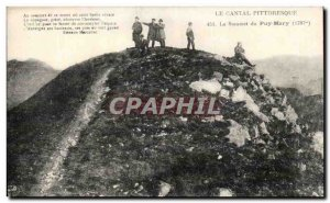 Old Postcard Picturesque Cantal Summit of the Puy Mary