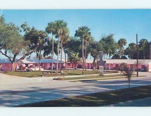 Pre-1980 MOTEL SCENE New Smyrna Beach Florida FL hk1389