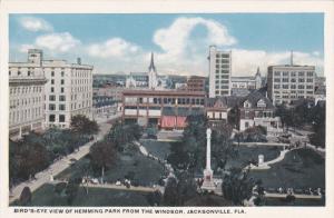 Bird's Eye View Of Hemming Park From The Windsor, JACKSONVILLE, Florida, 1910...