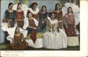Tehuantepec Mexico Beautiful Native Women Tehuanas Costumes Dresses PC
