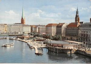 Hamburg Binnenalster und Jungfernstieg Boats General view