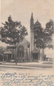 First Baptist Church - Batavia NY, New York - pm 1906 - UDB