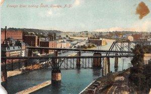Oswego River New York Postcard