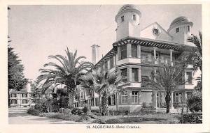 Spain Old Vintage Antique Post Card Hotel Cristina Algeciras Unused