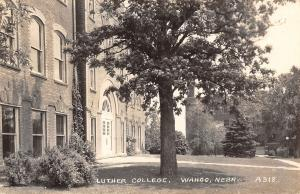 Wahoo Nebraska~Luther College Campus Buildings~1948 Real Photo Postcard~RPPC