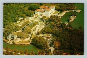 Miami FL- Florida, James Deering Estate, Fabulous Vizcaya, Chrome Postcard