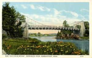 MA - Newburyport. Chain Bridge between Andover & Newburyport