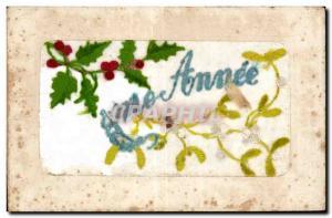 Old Postcard Fantasy Flowers Good year