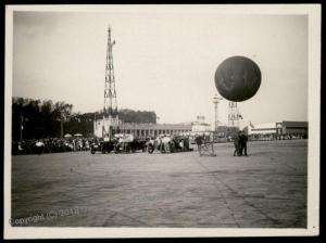 Germany Post-WWI pre-1945 Berlin Flughafen Balloon Radio Tower Photo 66699
