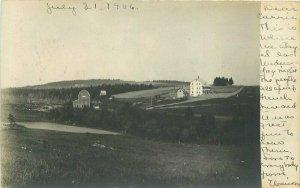 1906 Portland Maine Country Farm Barn undivided RPPC Photo Postcard 12514