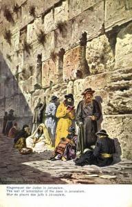 israel palestine, JERUSALEM, Jews at the Wailing Wall (1910s) Judaica, Perlberg