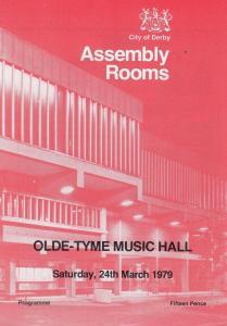 Ken Platt Kim Cordell Derby Assembly Rooms 1970s Theatre Programme