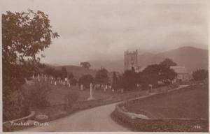 Windermere Church Cumbria Antique Aerial Postcard