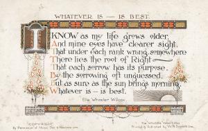 Ella Wheeler Wilcox Wisconsin Poet Christmas Tree Poem Old Postcard
