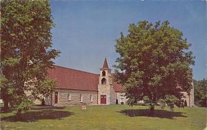 Lake Ozark MO~Christian Church on Rt 54 nr Bagnell Dam~Double Belltower 1950s PC