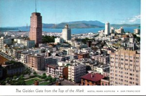 California San Francisco The Golden Gate From Top Of The Mark