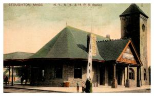 Massachusetts Stoughton , NY,NH,HR, Railroad Station