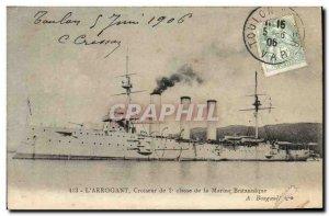 Old Postcard Boat War L & # 39Arrogant Cruiser 2nd British Navy class