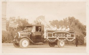 RP; WINNIPEG, Manitoba, Canada, 1931; Parade, Decorated truck, Louise - N14