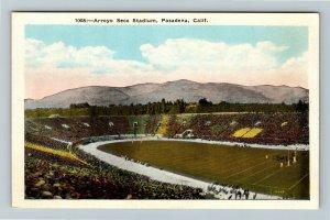 Pasadena, CA-California, Arroyo Seco Stadium, Vintage Postcard