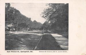 East Walnut Street, Springfield, Missouri, Very Early Postcard, Unused