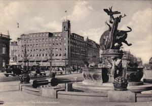 COPENHAGEN, Denmark, 1930-1940´s; View Of The Town Hall Square
