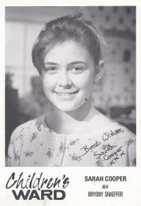 Sarah Cooper as Bryony Shaeffer Childrens Ward TV Show Vintage Signed Cast Card