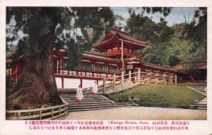 Kasuga Shrine, Nara, Japan, Early Postcard, Unused