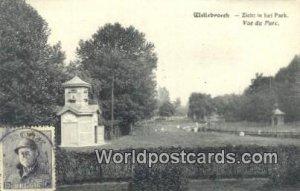 Zicht in het Park Willebroeck, Belgium Stamp on back