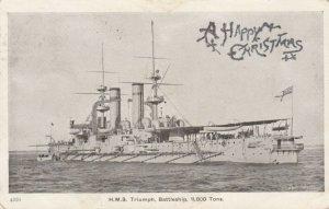 H.M.S. Triumph , Battleship , 11,800 tons , UK , 00-10s