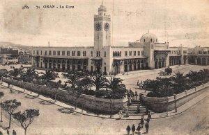Algeria Oran La Gare Train Station Postcard