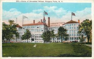 Niagara Falls New York~Home of Shredded Wheat~Cereal Factory~1920s Postcard