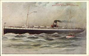 Steamship Manitou Northern Michigan Transit Co c1910 Postcard