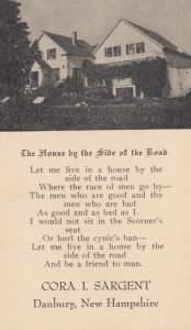 DANBURY, New Hampshire, 1900-10s; The House by the Side of the Road,  poem , ...