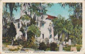 South Carolina Beaufort Saint Helena Episcopal Church Founded in 1712 1932