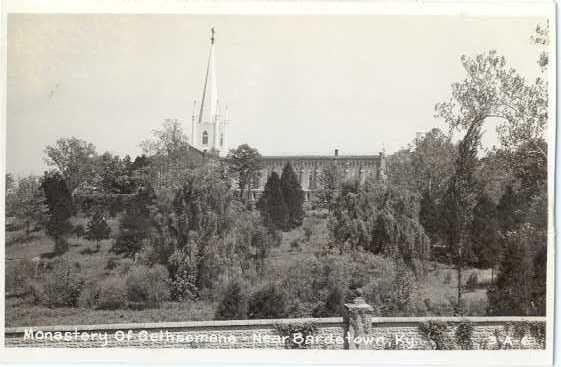 RPPC of Monastery of Gethsemane near Bardstown Kentucky, KY