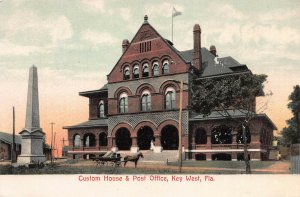 Custom House & Post Office, Key West, Florida, Early Postcard, Unused