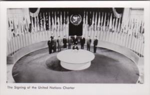 New York City The Signing Of The United Nations Charter Real Photo