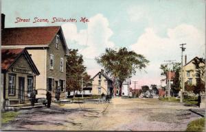 Stillwater ME Street Scene PA Horn & Co. c1908 Postcard E31