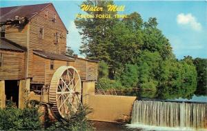 Pigeon Forge Tennessee~Water Powered Grist Mill~Dam~1950s Postcard