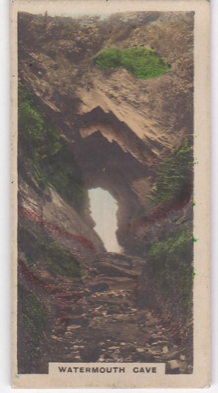 Cigarette Cards Cavanders CAMERA STUDIES Real Photos No 38 Watermouth Cave